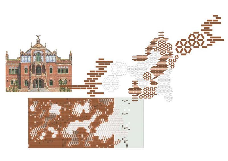 arquitectura pabellon kalida embt arquitectos collage fachadas