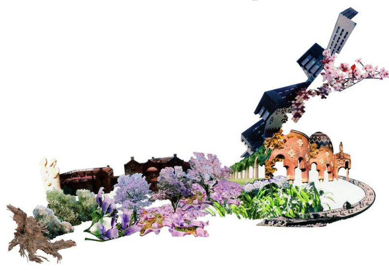 arquitectura pabellon kalida embt arquitectos collage