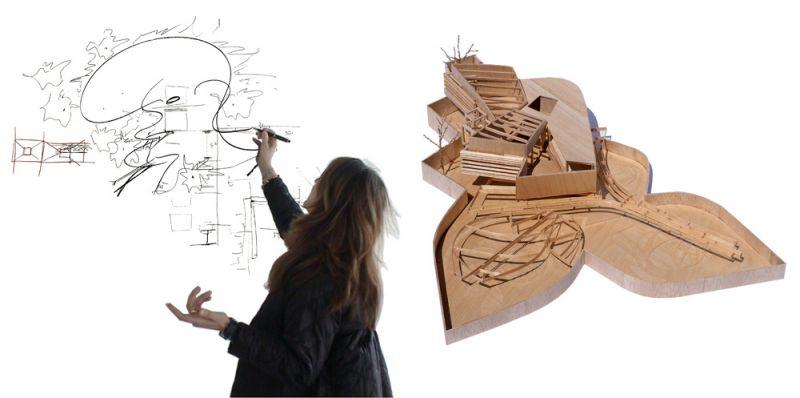 arquitectura pabellon kalida embt arquitectos maqueta
