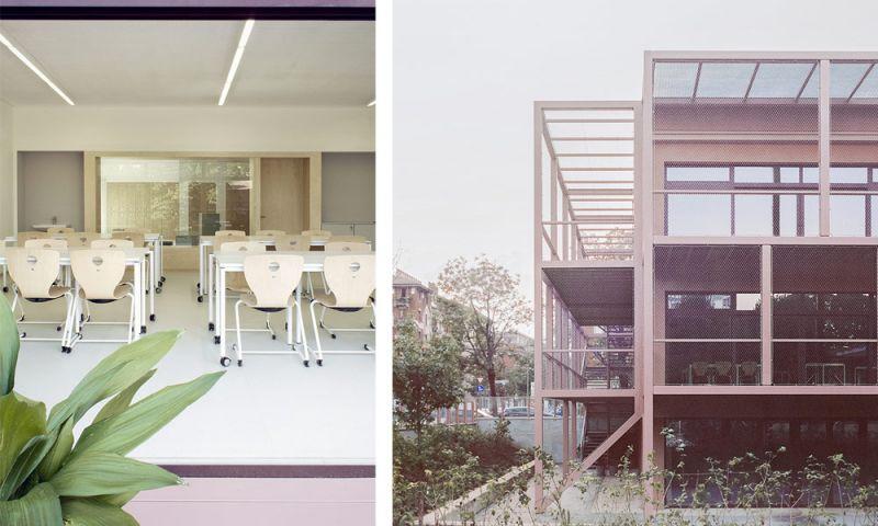 Imagen del interior de los cluster y la relación interior-exterior. Imagen de la nueva estructura de terrazas