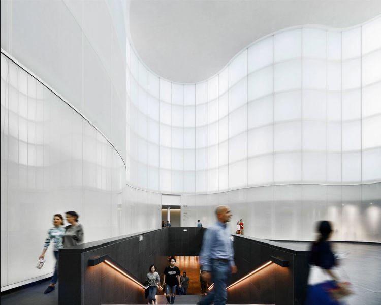 vista del atrio interno, hall del museo