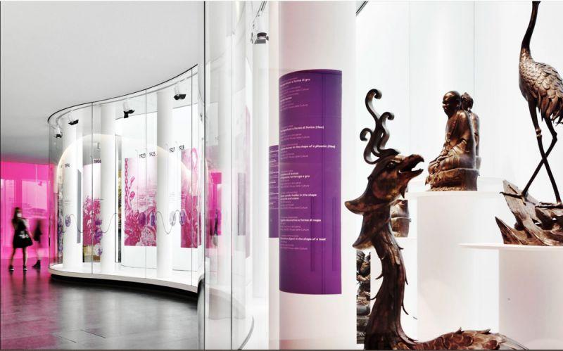 vista de las galerías expositivas