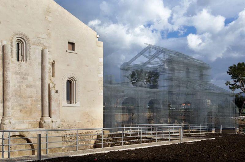 Imagen del conjunto arqueológico de Siponto