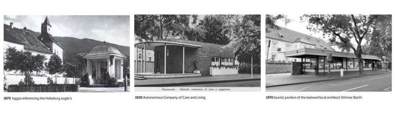 Fotos de los pabellones históricos de 1875, 1930 y 1968 respectivamente