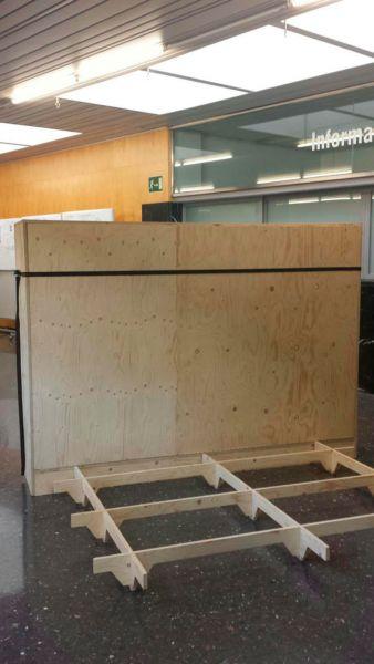 En ruta, un gadget para habitar Concurso estudiantes Taller 2 ETSA arquitecturayempresa foto plegado