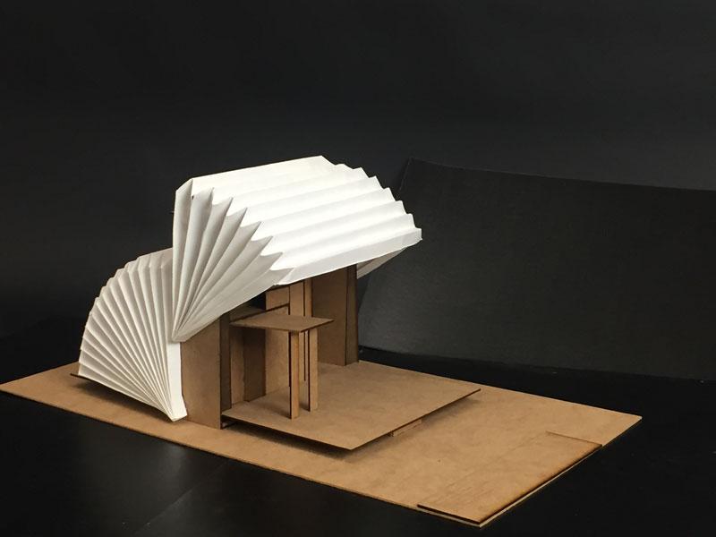 En ruta, un gadget para habitar Concurso estudiantes Taller 2 ETSA arquitecturayempresa maqueta