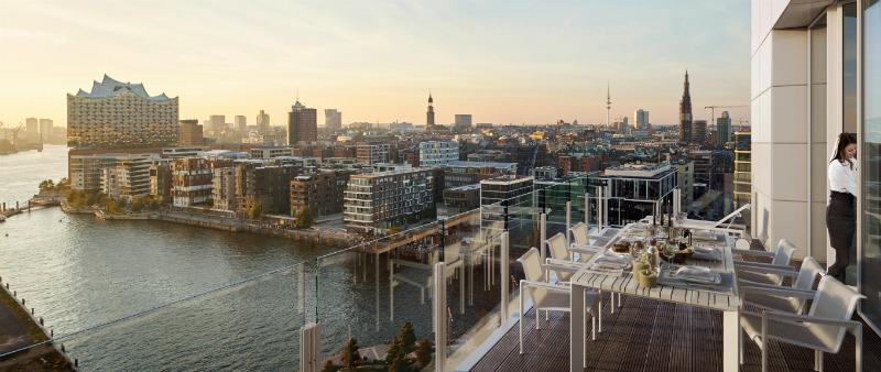 arquitectura, arquitecto, diseño, design, Engel & Völkers, Richard Meier & Partners Architects, Hamburgo, HafenCity, edificio, torre, viviendas, apartamentos, lujo, ático, sede, inmobiliaria, ciudad, Alemania