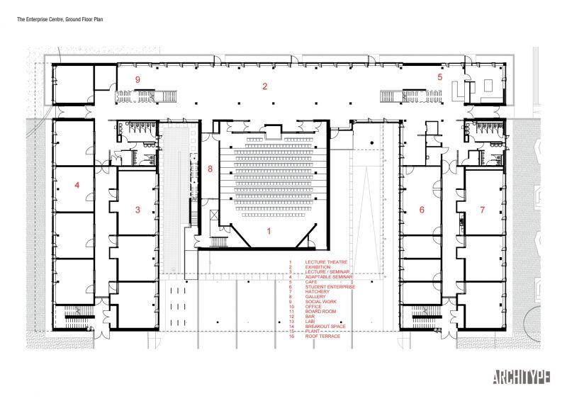 arquitectura_Enterprise Centre_planta baja