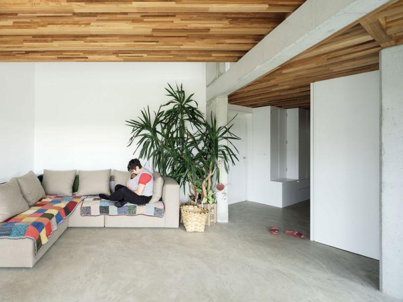 arquitectura entrevista arrokabe arquitectos casa cachons passivhaus estar sofa