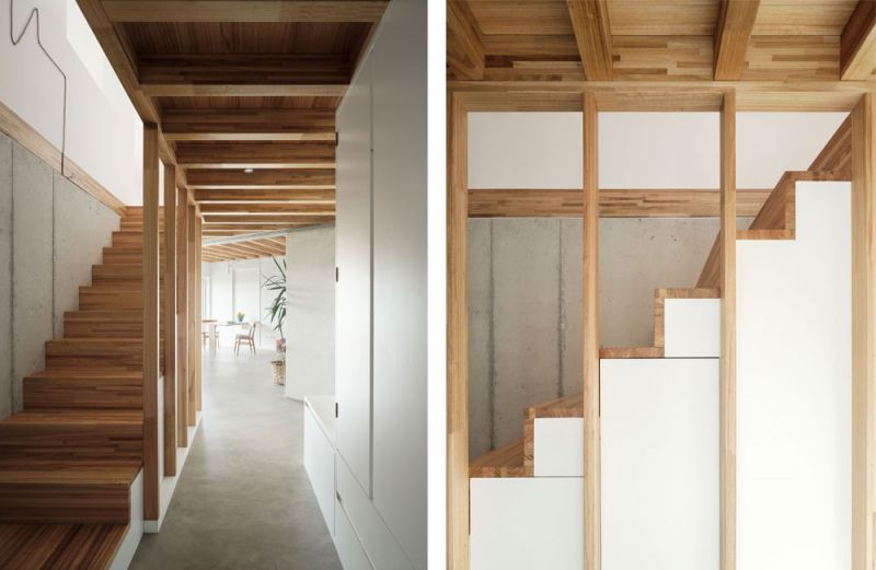 arquitectura entrevista arrokabe arquitectos casa cachons passivhaus escalera
