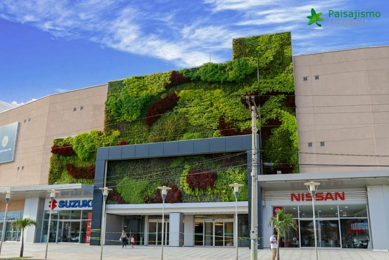 arquitectura jardin vertical paisajismo urbano Centro Comercial Las Brisas