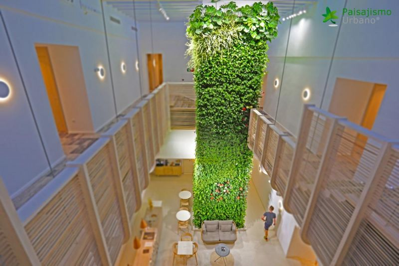 arquitectura jardin vertical paisajismo urbano Hotel Gatzara ibiza