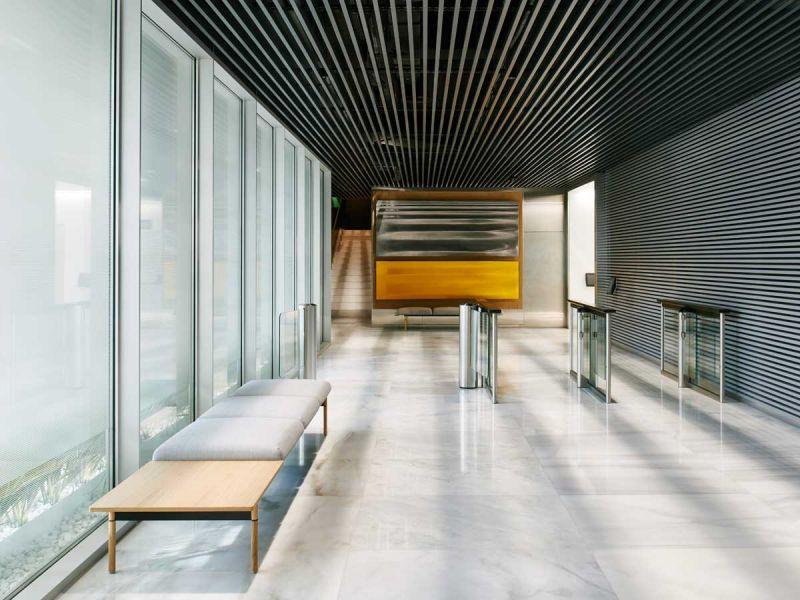 arquitectura estudio lamela arquitectos discovery building interior sala espera