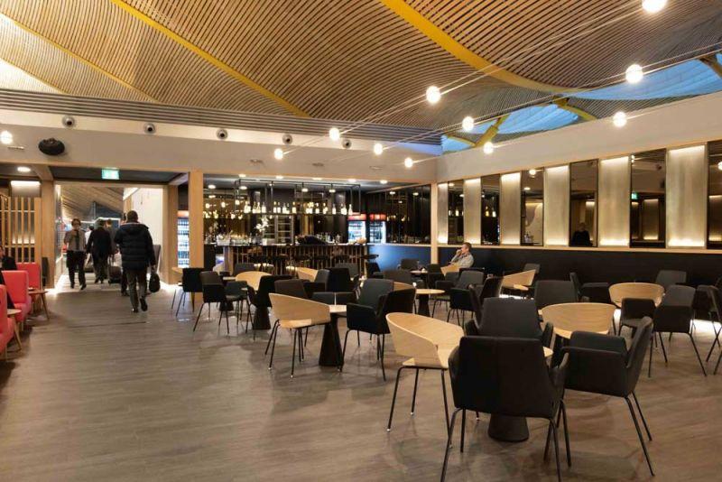arquitectura sala vip dali t4 barajas estudio lamela restaurante