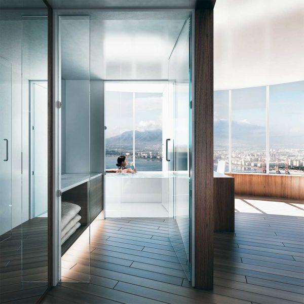 La torre del puerto de Málaga Seguí Arquitectura baños
