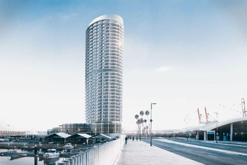 La torre del puerto de Málaga Seguí Arquitectura imagen de día