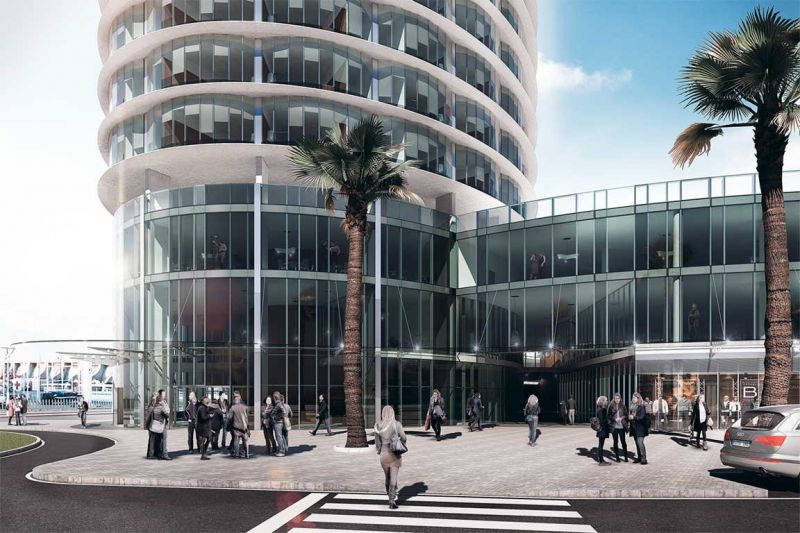 La torre del puerto de Málaga Seguí Arquitectura planta baja