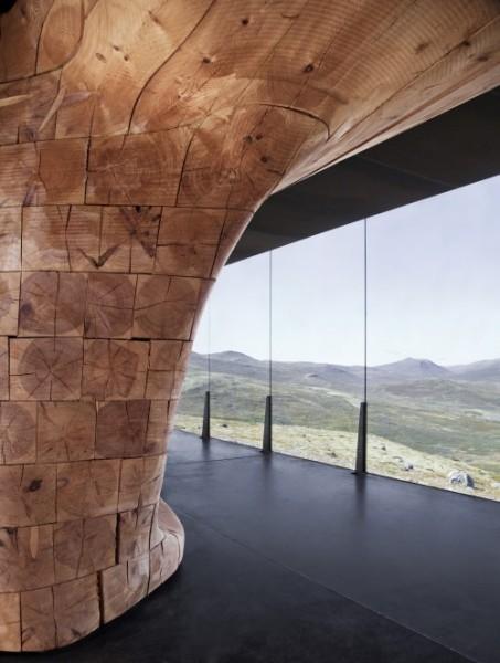 arquitectura extrema Noruega_detalle de la madera