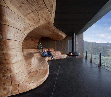 arquitectura extrema Noruega_interior