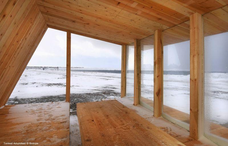 arquitectura extrema_refugio observación aves biotope_interior