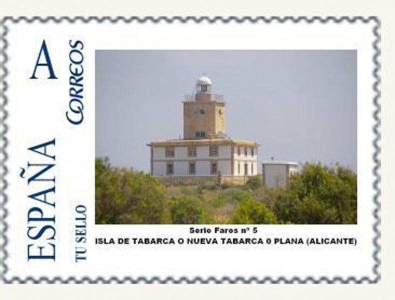 arquitectura sello correos faro de tabarca