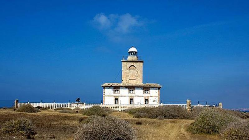 arquitectura vista del faro de tabarca