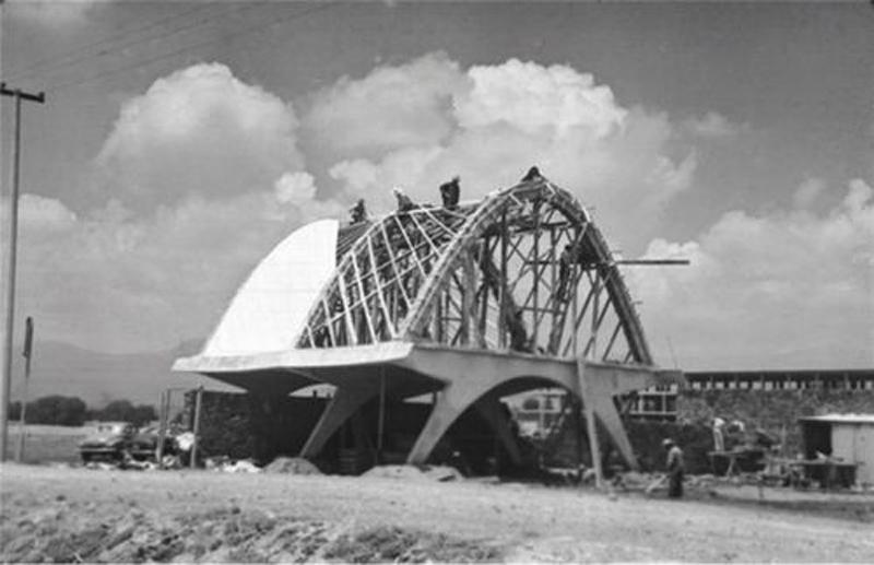 Arquitectura estructura  construcción del pabellón