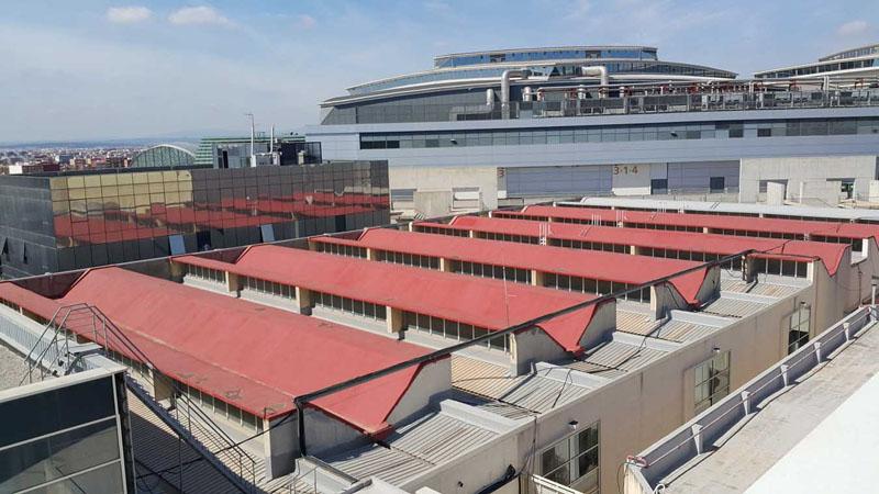 Arquitectura cubierta pabellones de feria valencia 1968