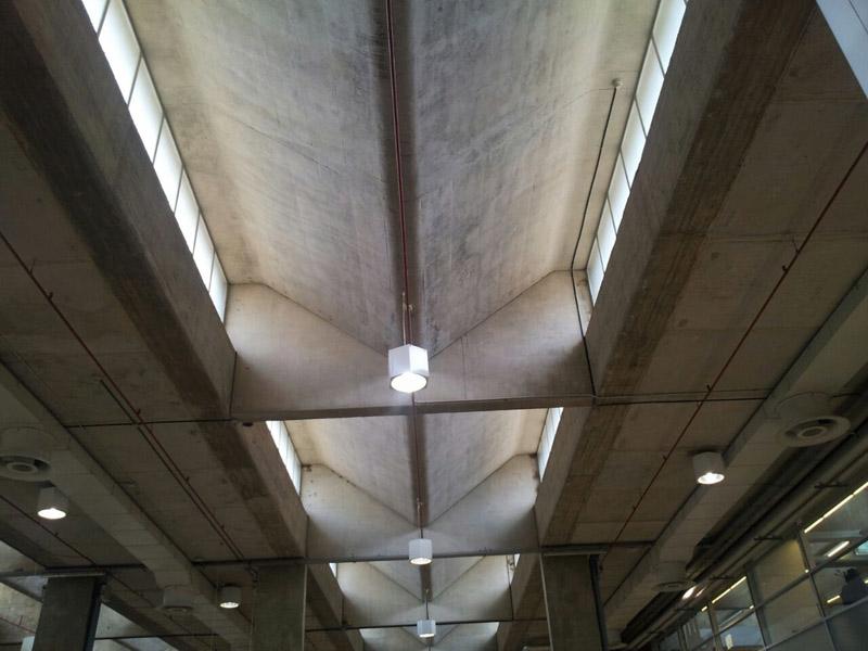 arquitectura lucernario de la zona norte