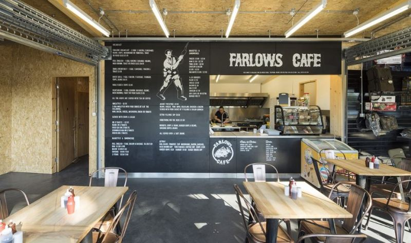 arquitectura_Fishing lodge_cafetería