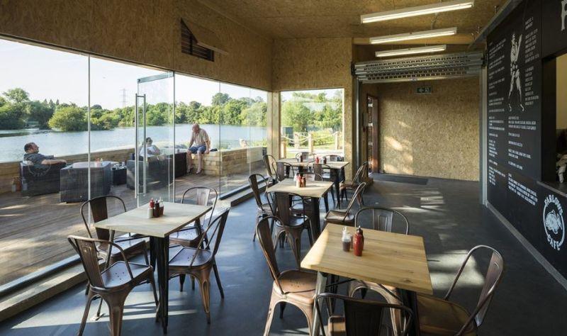 arquitectura_Fishing lodge_cafetería vistas