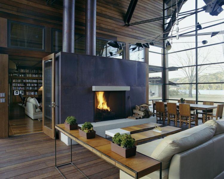 arquitectura_Flato Lake_Lake Austin House_interior