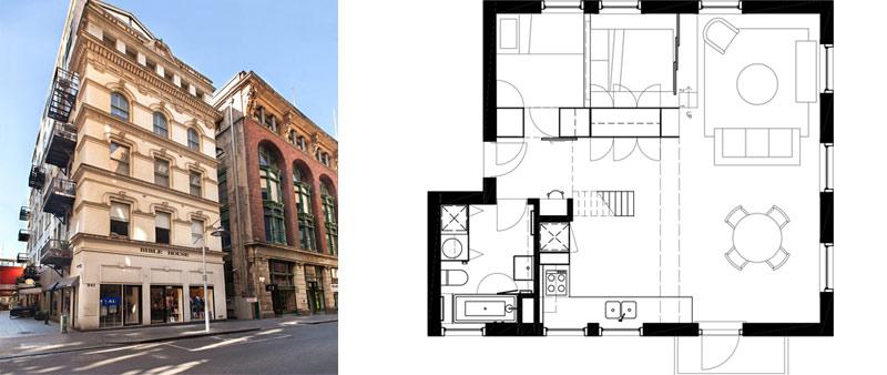 Viviendo en una caja de madera apartamento flinders lane for Espacios minimos arquitectura