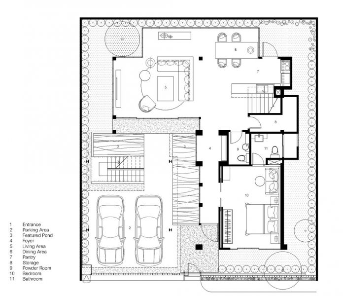 arquitectura flower cage house anonym planta baja