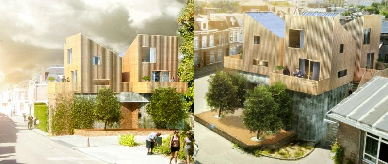 arquitectura, arquitecto, arquitectos, Holanda, diseño, design, vivienda, casa, micro-casa, mini-vivienda, minimalismo, Segunda Guerra Mundial, Froscen Architects, Leiden, FOON HOUSE