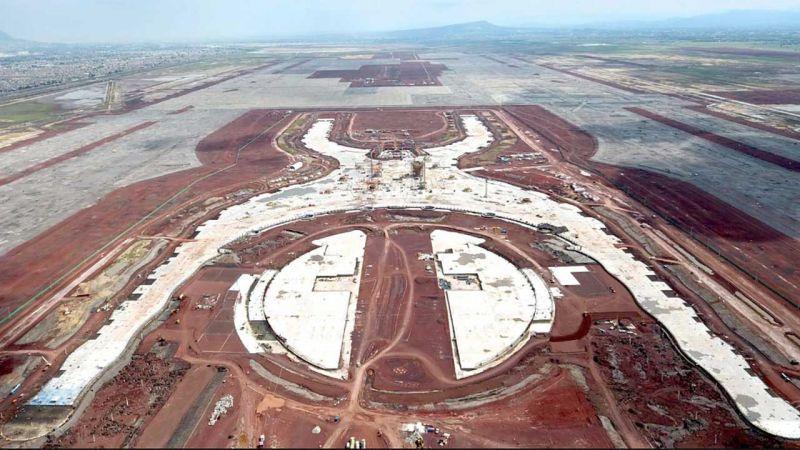 arquitectura foster + partners fr-ee naco nuevo aeropuerto internacional ciudad de mexico naicm foto obras