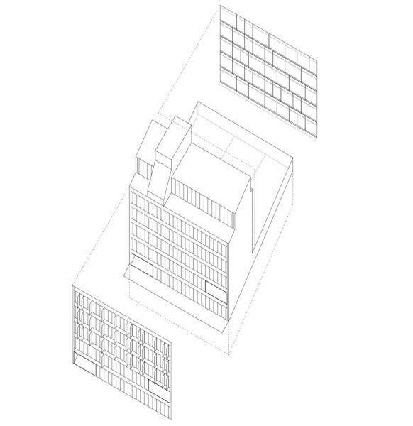 arquitectura Fernando Rodríguez Pablo Oriel estudio FRPO bloque elcano axonometria