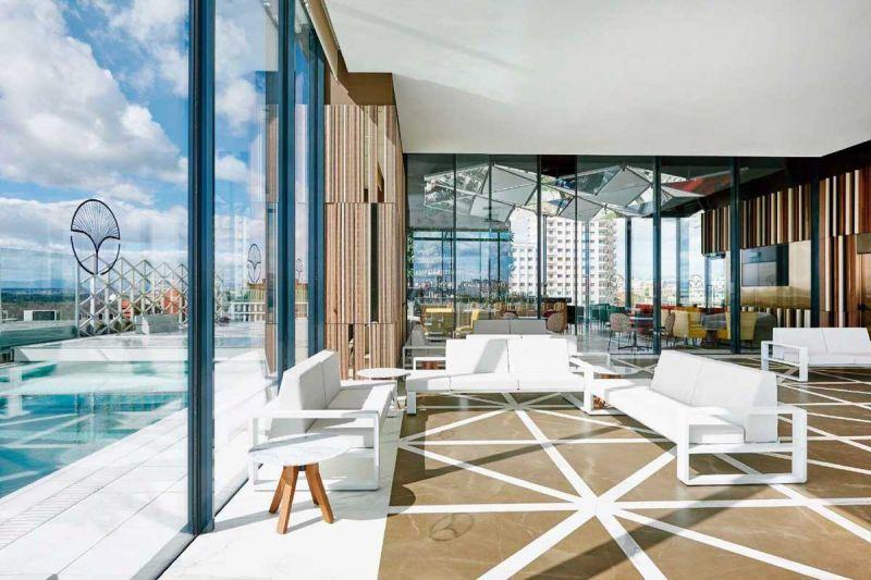 arquitectura hotel VP Plaza España design  B720 arquitectos Cuarto Interior Studio Ronda FSB New lock Systems sky bar