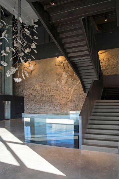 arquitectura fortaleza Sant Julia de Ramis de Fuses Viader Arquitectes fotografía escaleras