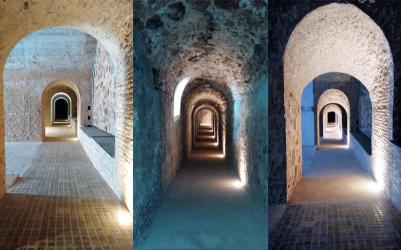 arquitectura fortaleza Sant Julia de Ramis de Fuses Viader Arquitectes fotografía tuneles