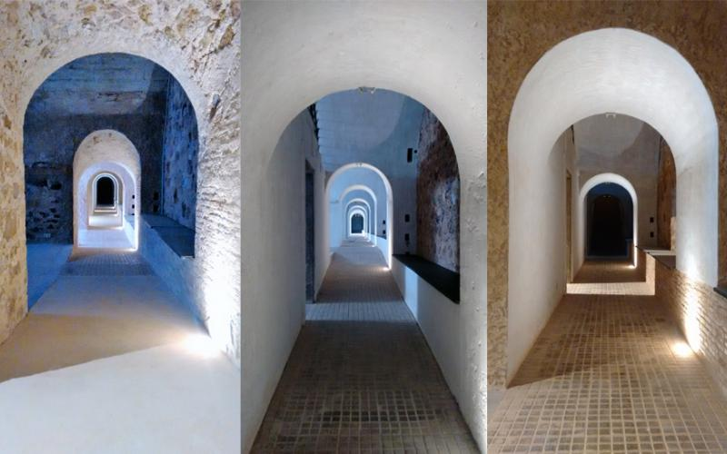 arquitectura fortaleza Sant Julia de Ramis de Fuses Viader Arquitectes fotografía tuneles 2