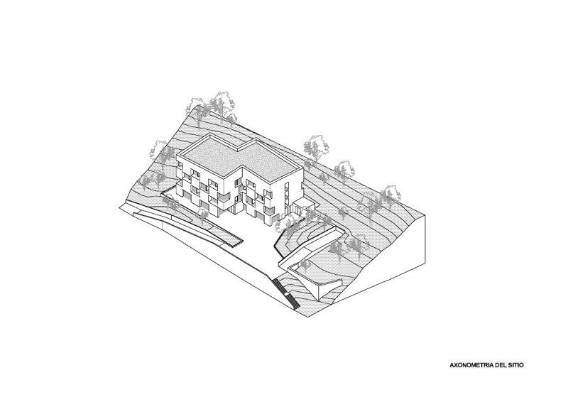 arquitectura fwg architects odmer centro medico axonometria