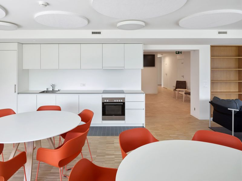 arquitectura fwg architects odmer centro medico planta baja cocina