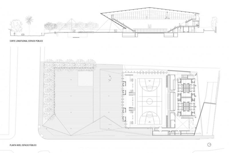 gimnsaio municipal de salamanca carreño sartori arquitectos plano situacion
