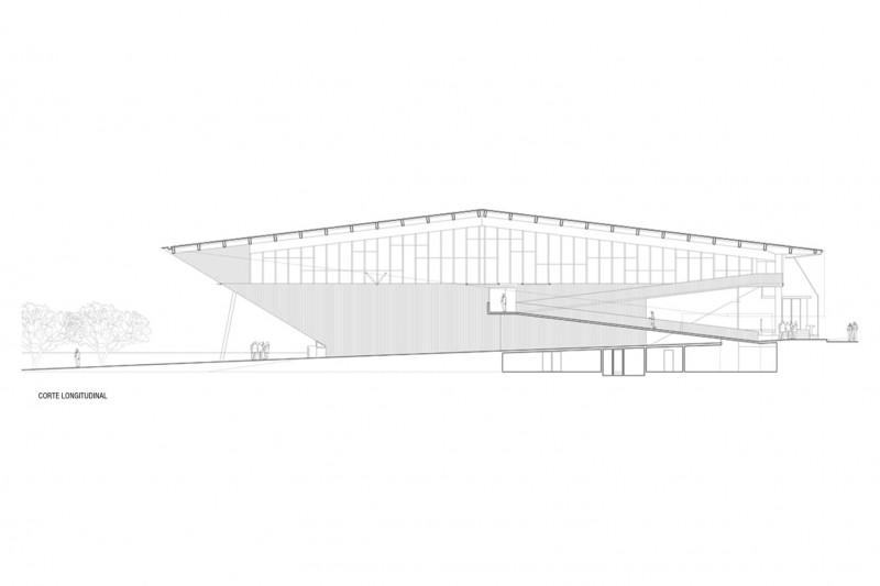 gimnsaio municipal de salamanca carreño sartori arquitectos plano seccion