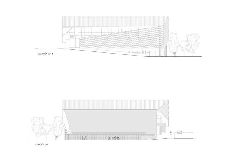gimnsaio municipal de salamanca carreño sartori arquitectos plano alzados
