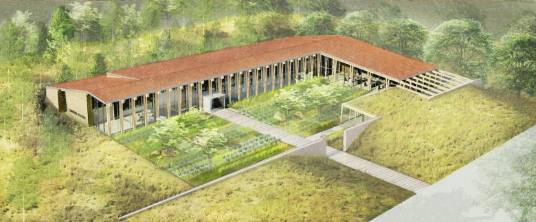 arquitectura_Graham Baba Architects_washington fruit company_perspectiva aérea