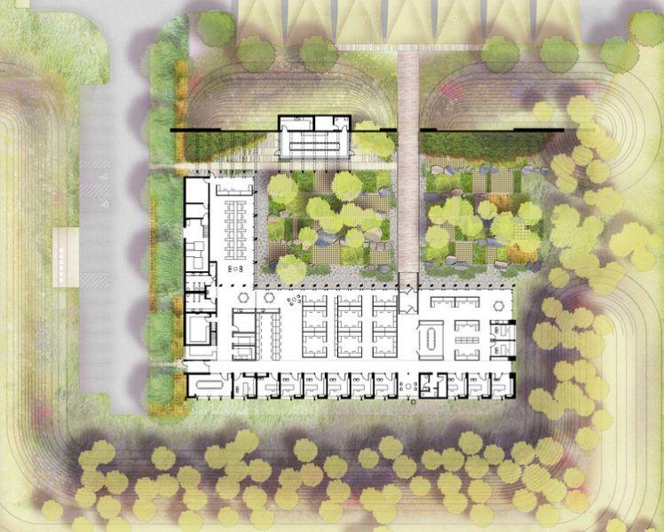 arquitectura_Graham Baba Architects_washington fruit company_planta