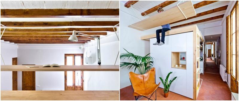 arquitecto, arquitectura, design, diseño, interior, interiorismo, A&EB, Anna & Eugeni Bach Arquitectes, apartamento, pequeño, Barcelona