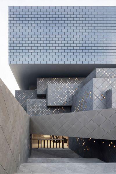 The Guardian Art Center Buro Ole Scheeren fotografia acceso